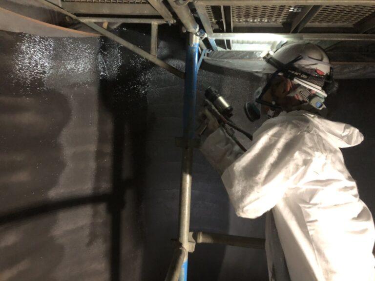 日向市 工場 鋼製タンク内部防蝕工事